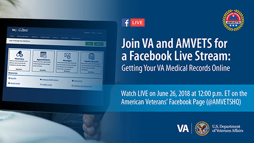 Join VA and AMVETS for a Facebook Live Stream