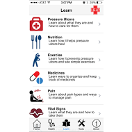 Pressure Ulcer Mobile Application Screenshot